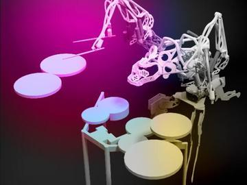 好玩又有趣击的打鼓机器人