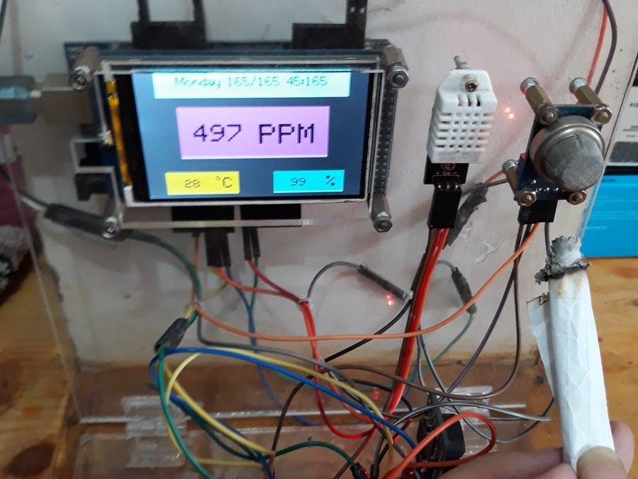 DIY一個室內空氣質量和溫度監測器