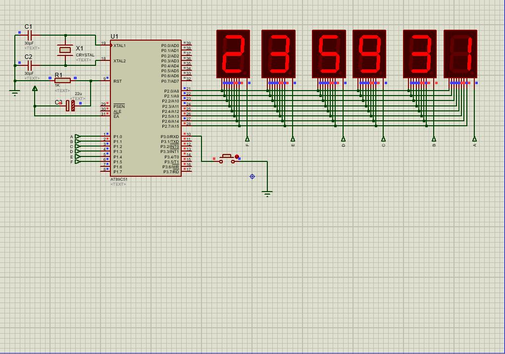 单片机课设作业:基于AT89C51的时钟显示,含仿真和源码
