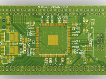 ALTERA FPGA开发板 CYCLONE IVE EP4CEXXE22C8N FPGA最小系统核心板AD版硬件原理图+PCB文件