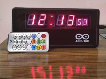 基于 Arduino Nano R3 的红外遥控数字时钟
