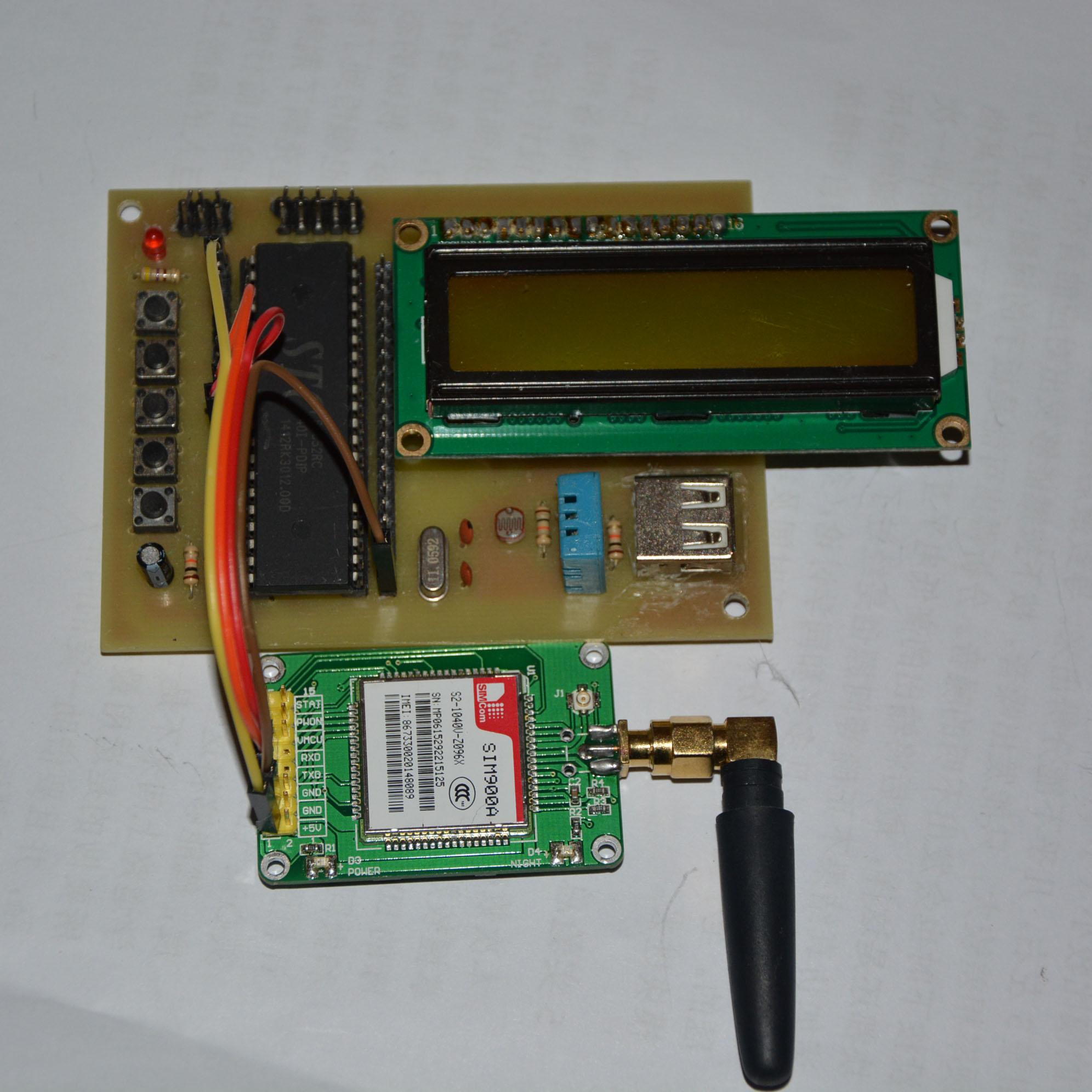 51單片機GSM溫濕度光照檢測系統設計