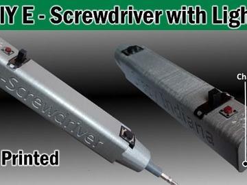 基于USB的DIY带手电筒可充电电动螺丝刀