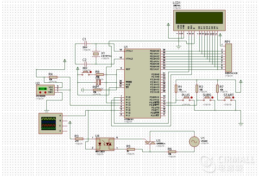 单片机炉温控制系统仿真及源码