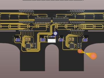 采用两个STM8设计的16路巡线传感器电路方案(pcb)