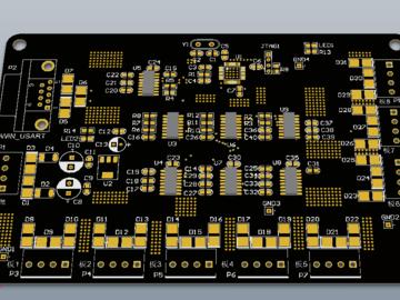 STM32主控板,串口扩展,一扩八串口(原理图+pcb)