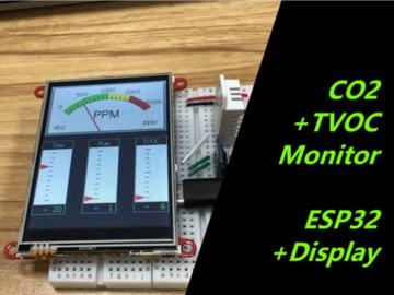 使用ESP32监控CO2和TVOC