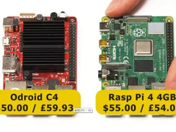 Odroid C4和Raspberry Pi 4大比拼
