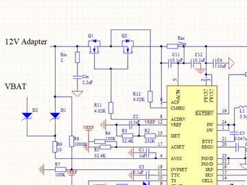 同步开关模式锂离子和锂聚合物独立电池充电器原理图