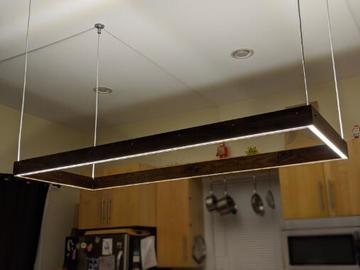 开启派对模式下的可编程LED厨房灯