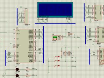 温度通信系统的电路方案设计(仿真图+程序+串口工具)