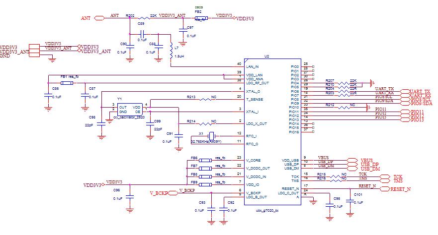 ublox8模块原理图与PCB_cadence格式