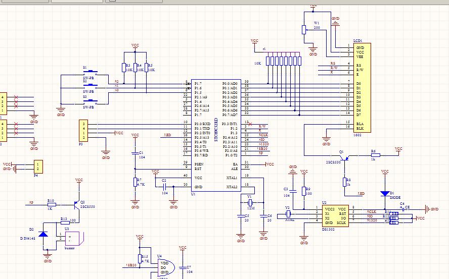 自制電子鬧鐘,原理圖源碼開源供參考