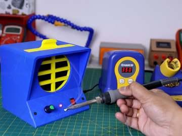 DIY 3D 打印的焊接烟雾提取器
