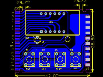 基于STM8S003单片机设计的时间继电器控制板电路方案(pcb+原理图)