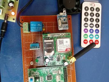 基于STM32单片机的智能家居设计-DHT11-GSM-红外-高亮黄-(电路图+程序源码)