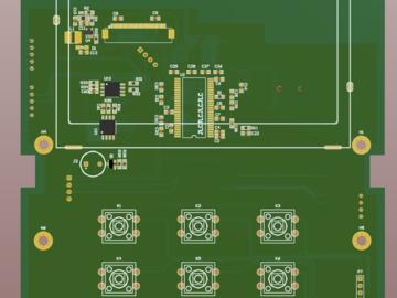 STM32429+16位SDRAM+RGB2双层板的电路方案设计(原理图+pcb)