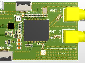 AP6398S蓝牙WIFI(2.4G和5G)原理图PCB