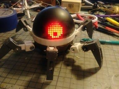 一个可穿戴的蜘蛛机器人,独一无二