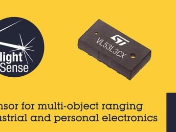 意法半导体推出最新飞行时间感测器,为下一代工业和个人电子装置带来多目标测距功能