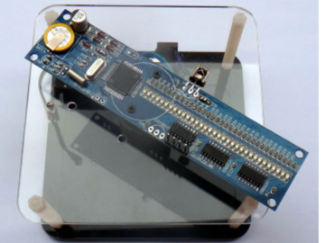 旋转LED套件 平面旋转POV 单片机套件 旋转时钟 DIY电子竞赛散件(原理图+源码+pcb)