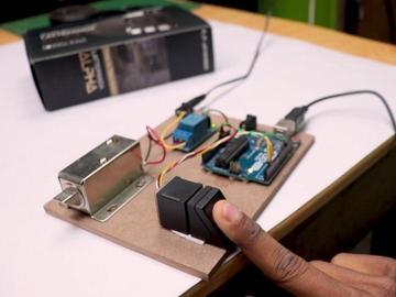 DIY指纹门锁系统
