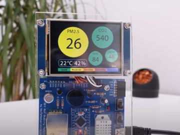 DIY基于Arduino的空气质量监测仪-PM2.5,CO2,VOC,臭氧,温湿度检测