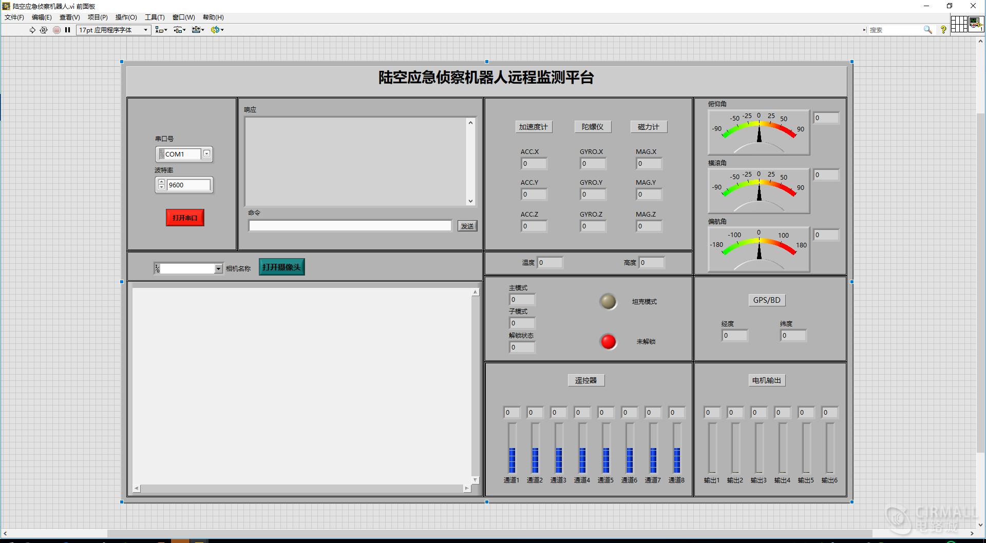labview上位机(串口通信+图传)