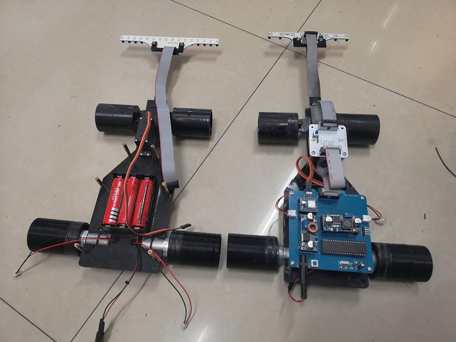 PID线跟随智能车,伺服转向智能车