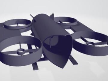 亚籍小哥带你设计具有附加推力电机的3D打印无人机