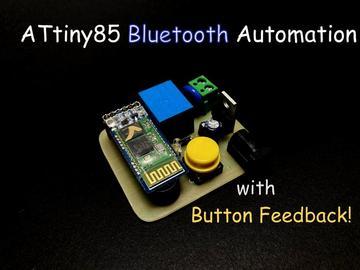 基于ATtiny85控制器的蓝牙自动控制继电器