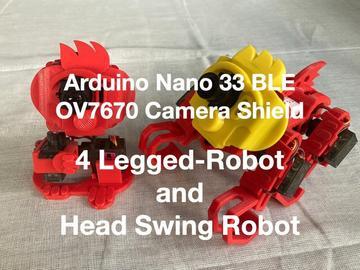 使用Arduino Nano 33 BLE相机护罩的机器人