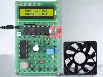 51单片机一氧化碳报警器/天然气液化气煤气CO火灾检测