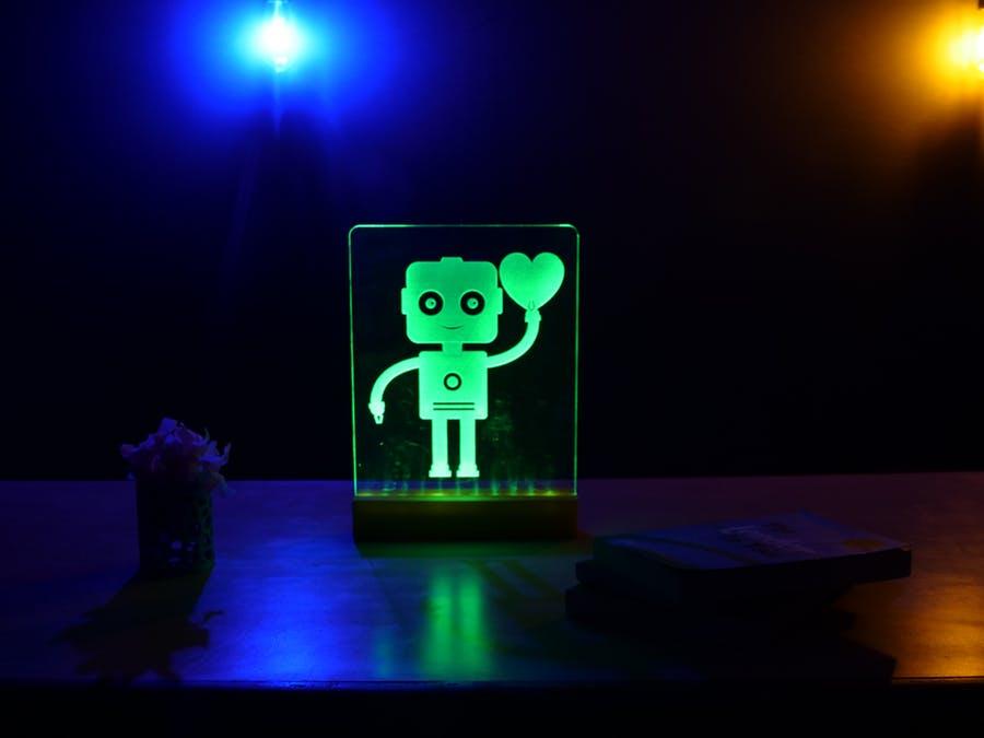使用Arduino点亮亚克力LED标志