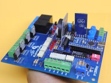 具有RTC模块V1.1,PLC高度隔离的行业控制板