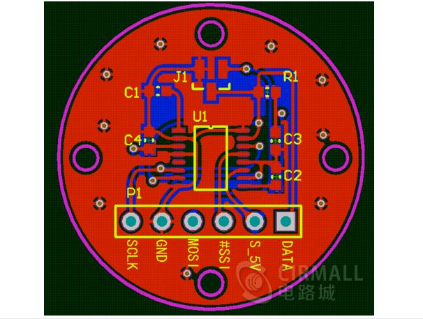 基于MLX90316绝度角度位置传感器板(原理图+PCB+集成库+Bom表+数据手册)