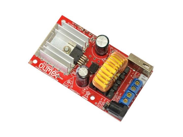 LM2576 DC-DC降压型电源转换器设计,固定输出5V或12V