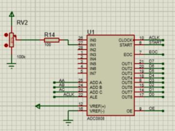 51单片机 ADC0809模数转换实验