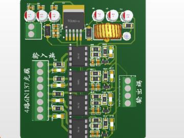 基于6N 137光耦的4路光耦隔离模块设计带稳压电源已打样工作稳定