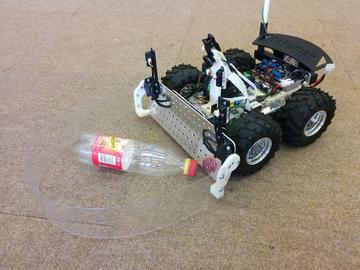 基于树莓派的自动回收瓶子的智能机器人