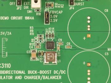 基于LTC3110的2A、双向、降压-升压型 DC/DC 稳压器和充电器/平衡器电路设计