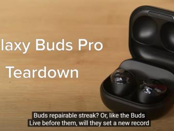 Galaxy Buds Pro拆解:创造耳机可修复性记录