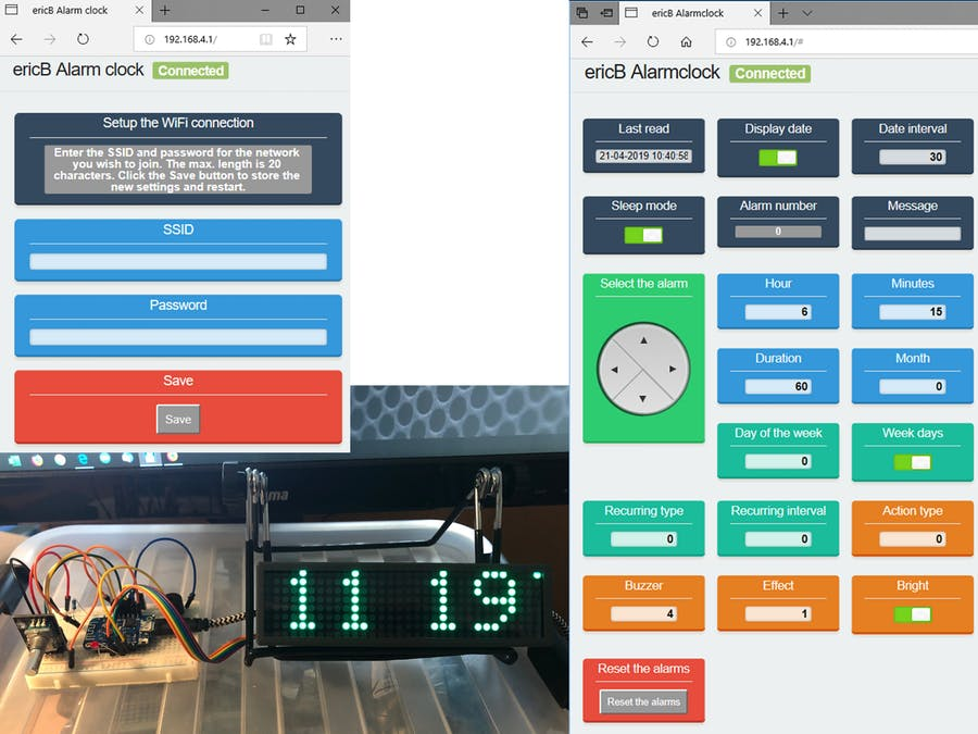 带Web界面的可编程报警时钟