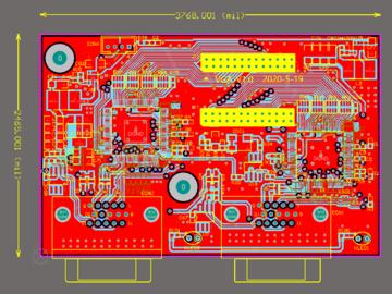 VGA转BT1120的电路方案设计(pcb+电路图)