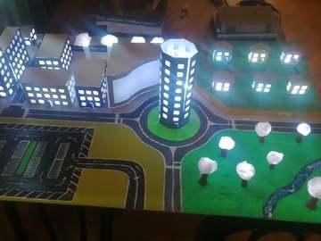 基于Arduino的LED城市模型(带温度传感器)
