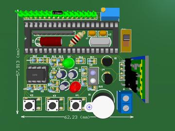 单片机脉搏温度检测仪仿真电路方案设计(原理图+pcb+源码+论文)