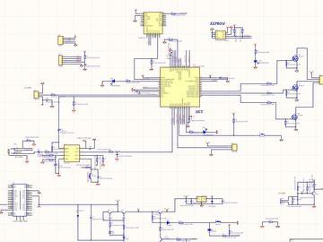 幻彩灯带(内置WS2812B)APP音乐随动频谱效果控制器电路方案设计(原理图+程序+pcb)
