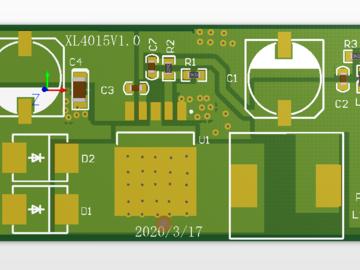 基于XL4015实现的降压电源模块电路方案设计(pcb+原理图)