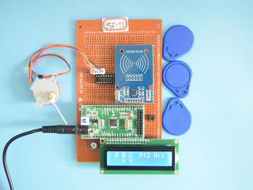 基于STM32单片机的视频RFID停车场引导服务系统步进电机设计-万用板-电路图+程序+论文52