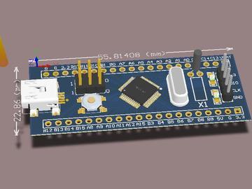 STM32F103c8迷你开发板的制作电路(原理图+pcb)